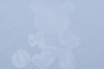 Wickelauflage von Alvi 75x85 phalatfrei 200/1 Teddy geprägt blau