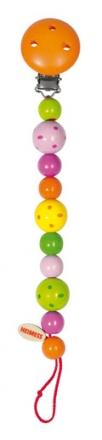 Heimess Schnullerkette 732230 Perlen gepunktet