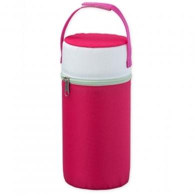 Rotho Warmhaltebox für Weithalsflaschen, raspberry