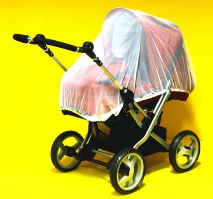 Insektennetz für Kinderwagen geschlossen schwarz
