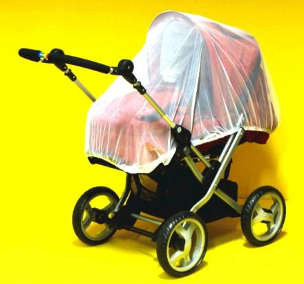 Insektennetz für Kinderwagen geschlossen weiß