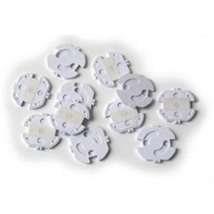 REER Steckdosenschutz drehbar transparent 10er Pack
