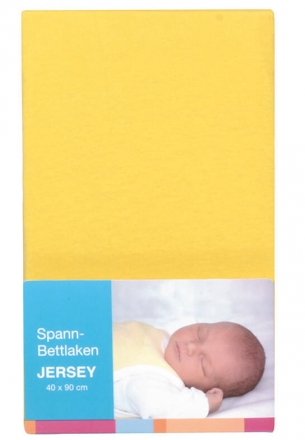 Baby Plus bed sheet jersey yellow 40x90cm