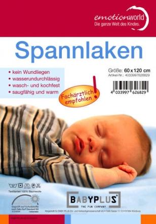 Wasserdichtes Spannlaken 70x140 cm weiß (Baby Plus)
