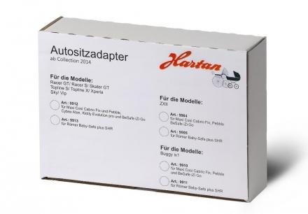 Hartan Adapter 2014 9913 Römer Baby Safe Plus mit Topline S, Racer GT u.a.