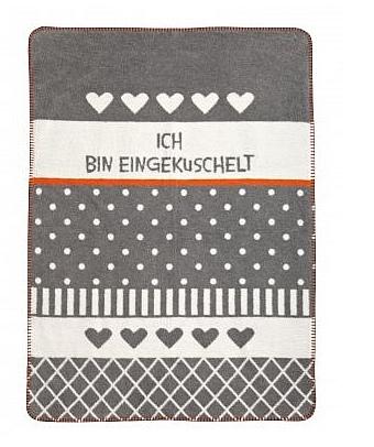 Zöllner Babydecke 75/100cm 1320-0 Kuscheln grau Baumwolle