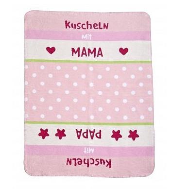 Zöllner Babydecke 75/100cm 1321-2 Kuscheln rosa Baumwolle