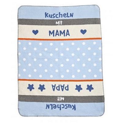 Zöllner Babydecke 75/100cm 1322-3 Kuscheln blau Baumwolle