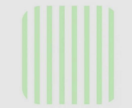 Zöllner Wickelauflage 75/85cm Softy 2010-6 Streifen grün phthala