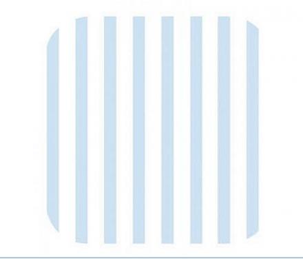 Zöllner Wickelauflage 75/85cm Softy 2010-3 Streifen blau phthala