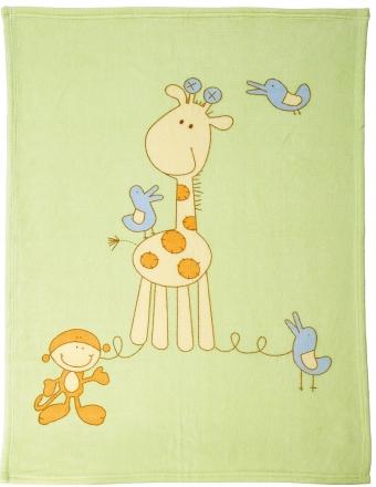 ALVI Microfaser Baby Decke Giraffe 75 x 100 cm 931841533 (Alvi)