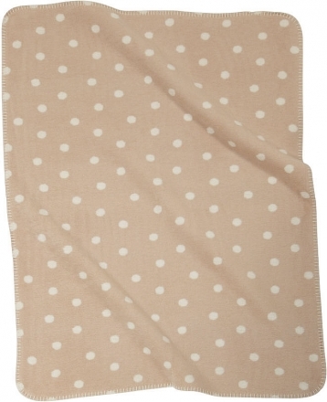 ALVI Baumwoll Baby Decke Punkte beige 75 x 100 cm 9317457006 (Alvi)