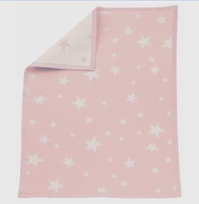Zöllner Babydecke Sterne rosa 75/100cm 4100-02 Baumwolle
