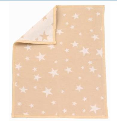 Zöllner Babydecke Sterne natur  75/100cm 4100-06 Baumwolle