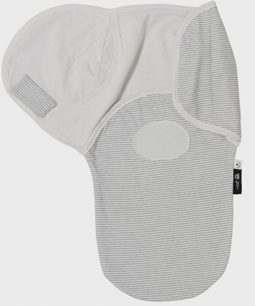 Alvi Belly Button Wickeltuch Harmonie light grey stripped