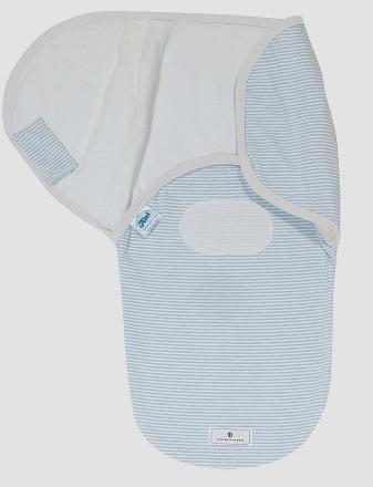 Alvi Belly Button Wickeltuch Harmonie light blue stripped