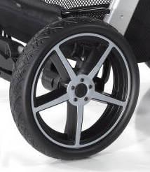 Hartan Hinterrad Crossfelge silber für Topline S/X und Racer GT