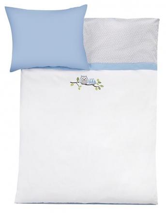 Zöllner bedding owls blue 80x80cm
