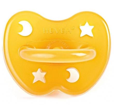 Hevea 214102 pacifier star & moon 0-3 Mon. (orthodontic)