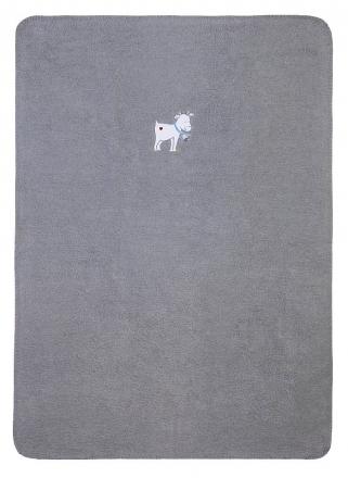Zöllner 1519-0 Kleine Ziege Babydecke 75/100cm Baumwolle