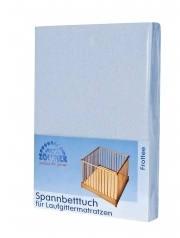 Zöllner fitted sheet for the playpen mattress uni blue 95/95cm