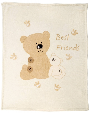 Alvi 931841506 Microfaser Baby Decke Teddy 75 x 100 cm