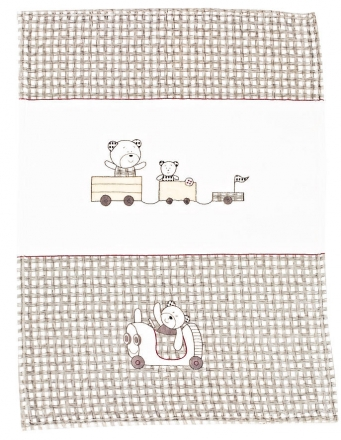 Alvi 931845176 Microfaser Baby Decke Große Fahrt 75 x 100 cm