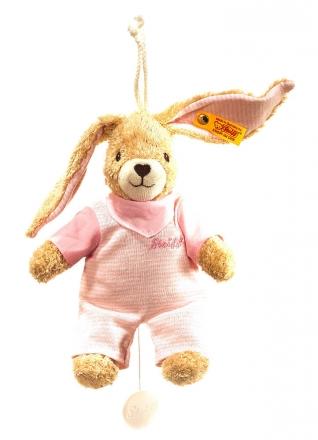 Steiff 237584 Hoppel Hase Spieluhr 20 rosa