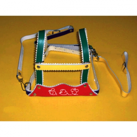 Safety harness leather