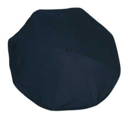 Sonnenschirm schwarz Silence Clip UV Schutz 50 72 cm