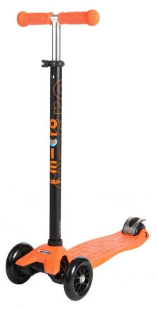 Micro MM 0028 Maxi Kickboard® with T-handle orange