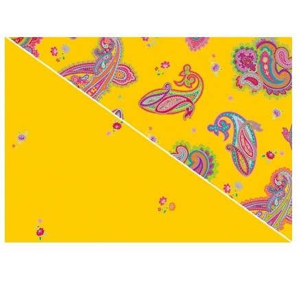Theraline Extrabezug für Stillkissen Design 60 Paisley Gelb
