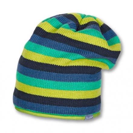 Sterntaler 4521405 size 53 modern striped knit hat with micro fleece insert