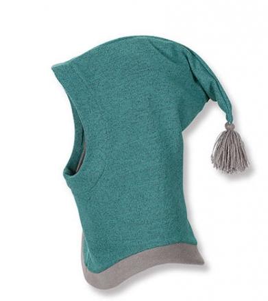 Sterntaler Fleece- Schalmütze 4501422 zirkon mit Klettverschluss