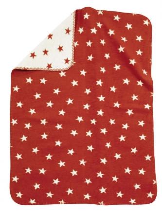 Alvi Sterne Rot 931746082 Baumwoll Baby Decke 75x100cm
