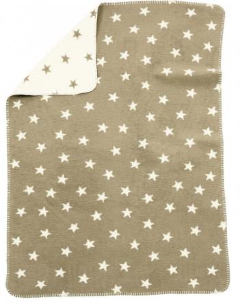 Alvi Sterne beige 931746086 Baumwoll Baby Decke 75x100cm