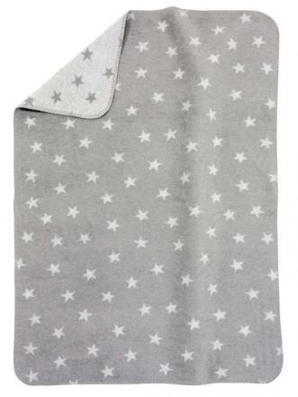 Alvi Sterne grau 931746087 Baumwoll Baby Decke 75x100cm