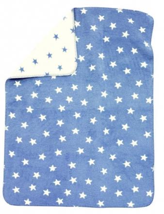 Alvi Sterne blau 931746088 Baumwoll Baby Decke 75x100cm