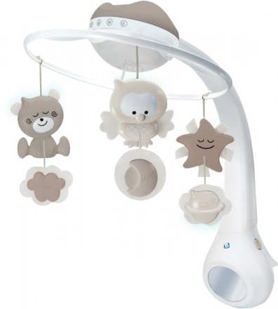 B Kids 3 in 1 Musikmobile mit Traumlampe grau 980-004915-12