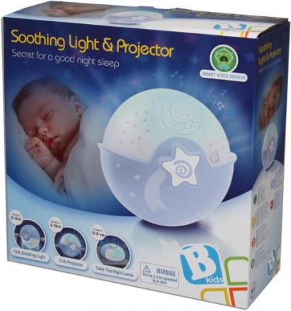B Kids Schlummerlampe Sternenhimmel mit Projektor blau 980-00462