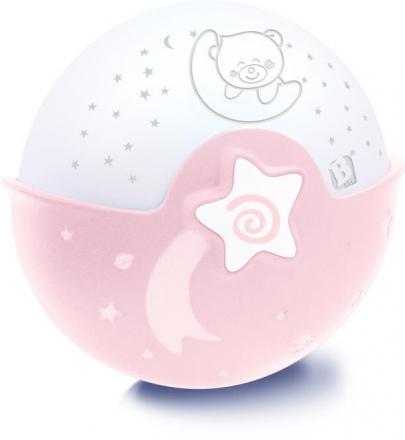 B Kids Schlummerlampe Sternenhimmel mit Projektor pink 980-00490