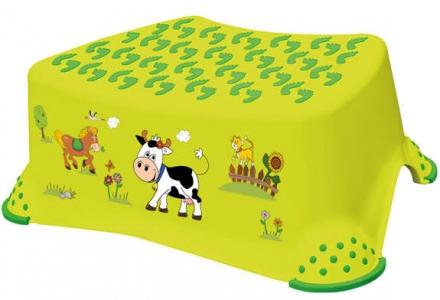Tritthocker OKT Funny Farm Grün