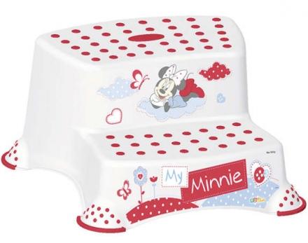 Tritthocker 2-stufig OKT Minnie Mouse weiß