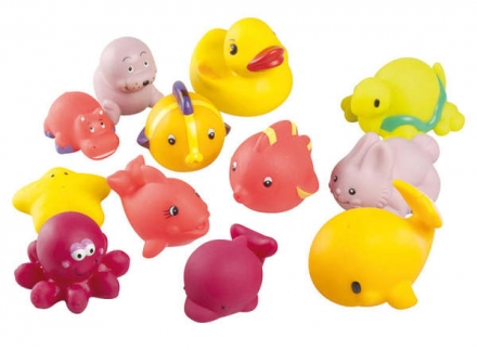 Babymoov bathfriends girl 12 pieces