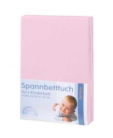 Zöllner Jersey Spannbetttuch 31-rosa 70/140