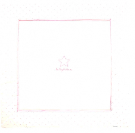 Alvi Krabbeldecke Classic Star mit Stick rose bellybutton 120x120