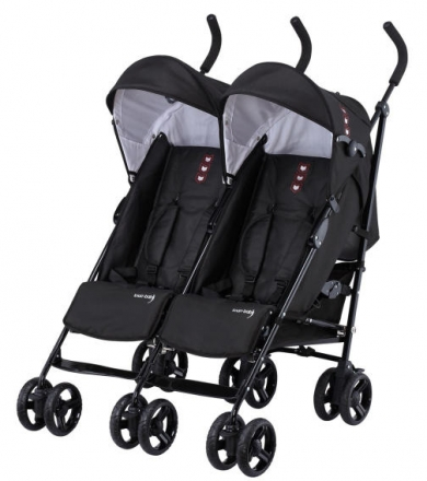 Knorr 832100 sibling or twin buggy Side by Side black