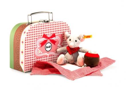 Steiff Maus Mr.Little 12 grau im Koffer (3tlg.)