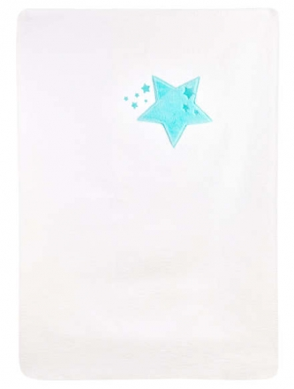 Zöllner cotton blanket with application star-imagery mint 75x100cm