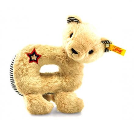 Steiff teddybear Niklie grip toy 14 beige/blue